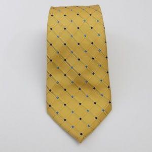 Nautica Men's Tie 100% Silk Yellow, Blue Necktie